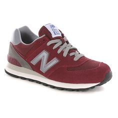New Balance 574 Bry Shoes in Burgundy. I love the burgundy color.