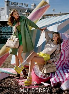 Frida and Lindsey for Mulberry, shot by Tim Walker
