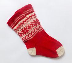 Womens Wool Socks, Winter Walk, Knee Socks, Scandinavian Style, Womens Scarves, Warm And Cozy, Red And White, Santa, Knitting