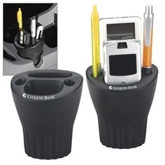 Looking for a promo item that will never end up in the trash. This auto cup keeps items organized for easy access in the cup holder of your car.