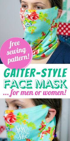 Sewing Hacks, Sewing Tutorials, Sewing Crafts, Sewing Projects, Crochet Crafts, Sewing Tips, Easy Face Masks, Diy Face Mask, Sewing Patterns Free