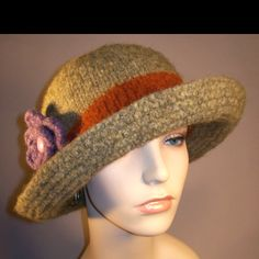 One of a kind Felted Brim Hats available at yoursbydesign2003.etsy.com