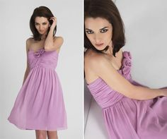 Short and flirty - a beautiful romantic styled bridesmaid dress that the girls can wear again!
