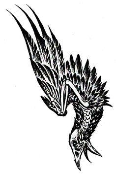 Rustin 'Spencer' Cohle's Bird Tattoo - True Detective Eagle Tattoos, Feather Tattoos, Black Tattoos, True Detective Rust, Alas Tattoo, Dream Tattoos, Animal Skulls, Animal Drawings, Tattoo Inspiration