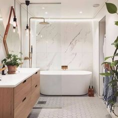 Home Decor Farmhouse 100 Bathroom Storage / Home design ideas.Home Decor Farmhouse 100 Bathroom Storage / Home design ideas Modern Master Bathroom, Modern Bathroom Design, Bathroom Interior Design, Modern Bathtub, Master Shower, Interior Decorating, Modern Shower, Freestanding Tub With Shower, Decorating Ideas