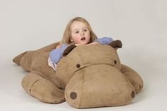 Faux Suede Hippo Bean Bag. I am going to need this but sized proportionately to me.