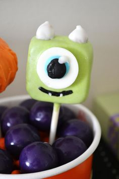 Cake pops at a Halloween Monster Bash Full of Awesome Ideas via Kara's Party Ideas | KarasPartyIdeas.com #Halloween #Party #Ideas #Supplies #monster #cakepops