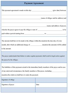 Printable Business Installment Payment Agreement Template Plan