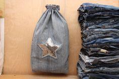 Sequin bag , denim backpack , backpack purse , rucksack , star backpack , denim bag , jeans bag , bag with rivets , star bag , sequin app by SecondBirthday on Etsy