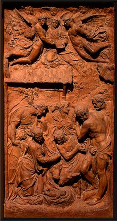 Terracotta. Adoration of the Shepherds' in terracotta (C. 1625-75)