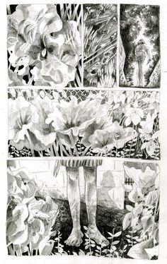 Drawing Comics Rhubarb and Raspberries on Behance - Comic Manga, Comic Art, Comic Book Layout, Graphic Novel Art, Drawn Art, Bd Comics, Illustrations And Posters, Art Inspo, Art Reference