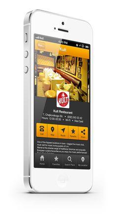 Guide App by Pavlo Tyshchuk, via Behance