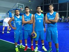 Atletas de Baloncesto 3x3   MIGUEL ROSALES, ANTHONY MASSON, JOSÉ TUCHÁN,   JEFERSON URRUTIA
