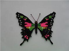 Бабочка - Kavaleri imperialis самец   biser.info - всё о бисере и бисерном творчестве