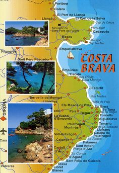 costa brava 2 map card 3 for trade spain holidays and Begur Costa Brava, Places To Travel, Places To See, Spain Holidays, Reisen In Europa, Spain And Portugal, Beautiful Places To Visit, Spain Travel, European Travel