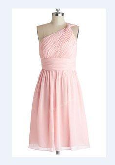 Pink Bridesmaid Dress Short Chiffon Dresses by chiffondresses, $77.00