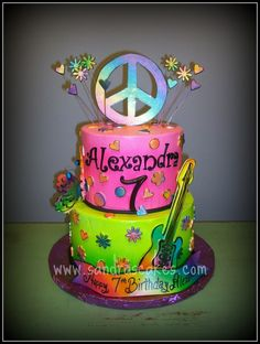 peace birthday cake......my daughter would love this!