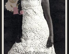 PDF Crochet Pattern for a Flower Motif Dress  - Retro Chic - Instant Download