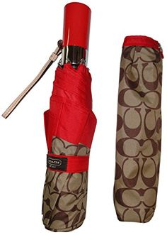 Coach Signature Park Umbrella F62553 RedKhaki *** You can get more details by clicking on the image. (This is an affiliate link)