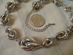 """Gorgeous piece--unusual necklace! Length includes 3 1/2"""" Extension Chain--hook lobster claw clasp into any link to adjust size. EXCELLENT condition!"""