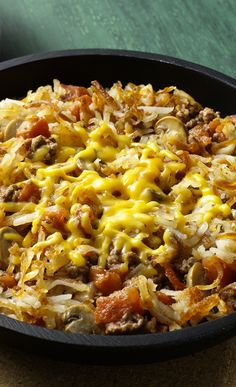 Cheesy Hash Brown Skillet | #SimplyPotatoes Side Dish perfect for breakfast or dinner!