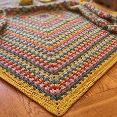 Mustard Granny Square Blanket Crochet pattern by Eight-by-Six – Mundo de ganchillo Granny Stripe Blanket, Baby Blanket Crochet, Crochet Baby, Crochet Blankets, Knit Squares Blanket, Crochet Granny Square Afghan, Afghan Blanket, Free Crochet, Crochet Motifs