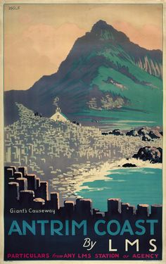 Giant's Causeway / Antrim Coast / vintage travel poster