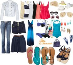 """""""Packing for the Beach"""" by theranna ❤ liked on Polyvore"""