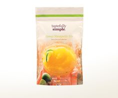 Mango Margarita Mix | Tastefully Simple | This margarita mix is fresh and fruit, the rimmer adds just a hint of lime and heat. Just add tequila, water and ice.