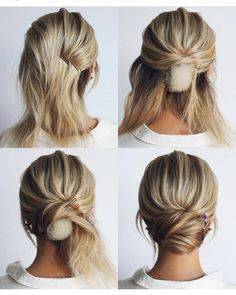This elegant hairstyle is also suitable for wedding.Low bun wedding hair can match your wedding dress. Bridal hair updo, high updo, short hair updo or bridesmaid hair updo is perfert for wedding hairstyles updo. Save this Easy And Hair Tutorials Dutch bra Medium Length Hairstyles, Braided Hairstyles, Medium Length Updo, Medium Length Bridal Hair, Gorgeous Hairstyles, Shoulder Length Updo, Hairstyles Men, Retro Hairstyles, School Hairstyles