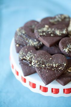 #Epicure Chocolate Shortbread #valentinesday Valentines Day Food, Valentine Treats, Sweet Cookies, Sweet Treats, Cookie Desserts, Cookie Recipes, Yummy Eats, Yummy Food, Epicure Recipes