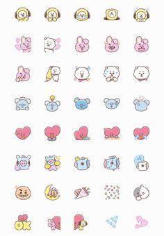 things to draw Cute Small Drawings, Mini Drawings, Bts Drawings, Pop Stickers, Kawaii Stickers, Printable Stickers, Printable Scrapbook Paper, Emoji Stickers, Kawaii Doodles