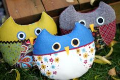 My owls, the pattern is from http://gingercake.typepad.com