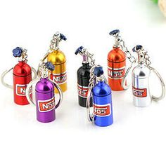 Nitrous Oxide Bottle Keyrings. I want one of these so badly they are friggen cool!