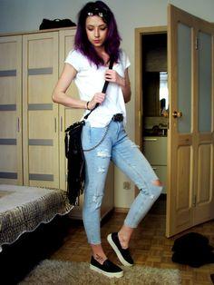 Holly G. - H&M Girlfriend Jeans - Girlfriend jeans