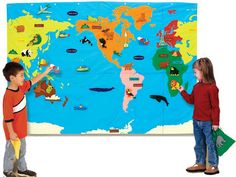 Black Friday 2014 Educational Insights Geosafari® Wonder World Set from Educational Insights Cyber Monday Maps For Kids, Our Kids, Teaching Geography, Teaching Career, Wall Maps, Montessori Materials, Travel Themes, Kids Learning, Learning Place