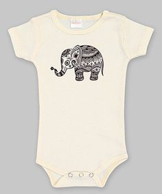 Love this Ivory Elephant Bodysuit - Infant by Truffles Kids on #zulily! #zulilyfinds for me bby sis $10