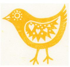 lino print card easter - Google Search