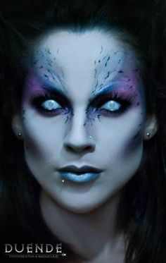 Terrific Alien makeup effect by @'Duende 'rfs http://500px.com/Duenderfs / Looks great paired with frosty contacts look.  Check out our Alien Makeup & FX Contacts board for more great ideas => https://www.pinterest.com/FXContactLenses/alien-makeup-fx-contacts/