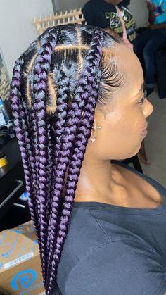 Short Box Braids Hairstyles, Braided Hairstyles For Black Women, Braids For Short Hair, Baddie Hairstyles, Long Braids, Natural Hairstyles, Protective Braids, Protective Hairstyles, Protective Styles