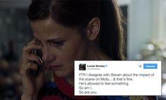 "Sherlock star Louise Brealey ""disagrees"" with Steven Moffat's comments on Molly Hooper Sherlock Moriarty, Benedict Cumberbatch Sherlock, Sherlock Quotes, Doctor Who Amy Pond, Amanda Abbington, Louise Brealey, Molly Hooper, Sherlolly"
