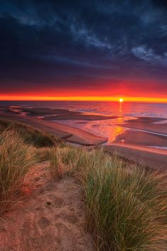 Balmedie Beach Sunrise, Aberdeenshire, Scotland.