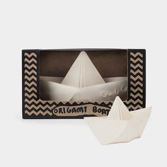 Origami Båt Hvit