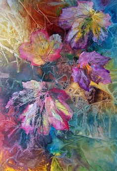Journal d'art Québec: Appel de créations septembre 2020 Alcohol Ink Crafts, Alcohol Ink Painting, Alcohol Ink Art, Leaf Drawing, Abstract Canvas Art, Leaf Art, Painting Techniques, Oeuvre D'art, Watercolor Paintings