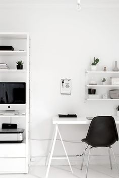 Black and White Workspaces | Homey Oh My! | Bloglovin'