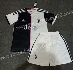 3ff33596127 2019-20 Juventus Home Black White Soccer Uniform. Soccer UniformsSoccer  JerseysGym Shorts WomensThailandBlack WhiteItaliaFootball ...