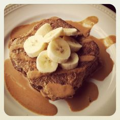 French Toast + Banana + Peanut Butter Maple Sauce
