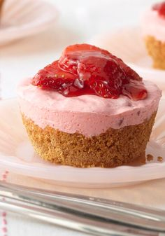 Individual Strawberry Cups -- Dessert recipe bliss, in a size just for you. No fighting over who has more creamy topping or lush strawberries, just delectable silence as everyone digs in.