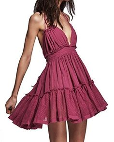 Dress Women 2018 Summer Sexy V Neck Backless Lace Beach Dress Holiday Boho Chic Casual Short Sleeveless Bandage Party Dresses Sexy Dresses, Plus Size Maxi Dresses, Fashion Dresses, Short Sleeve Dresses, Party Dresses, Mini Dresses, Dresses Dresses, Dresses Online, Casual Dresses