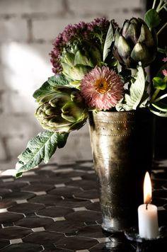 Moody floral arrangement